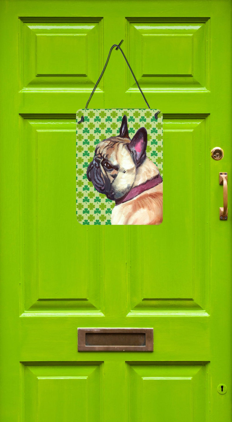 Buy this French Bulldog Frenchie St. Patrick's Day Shamrock Wall or Door Hanging Prints LH9573DS1216