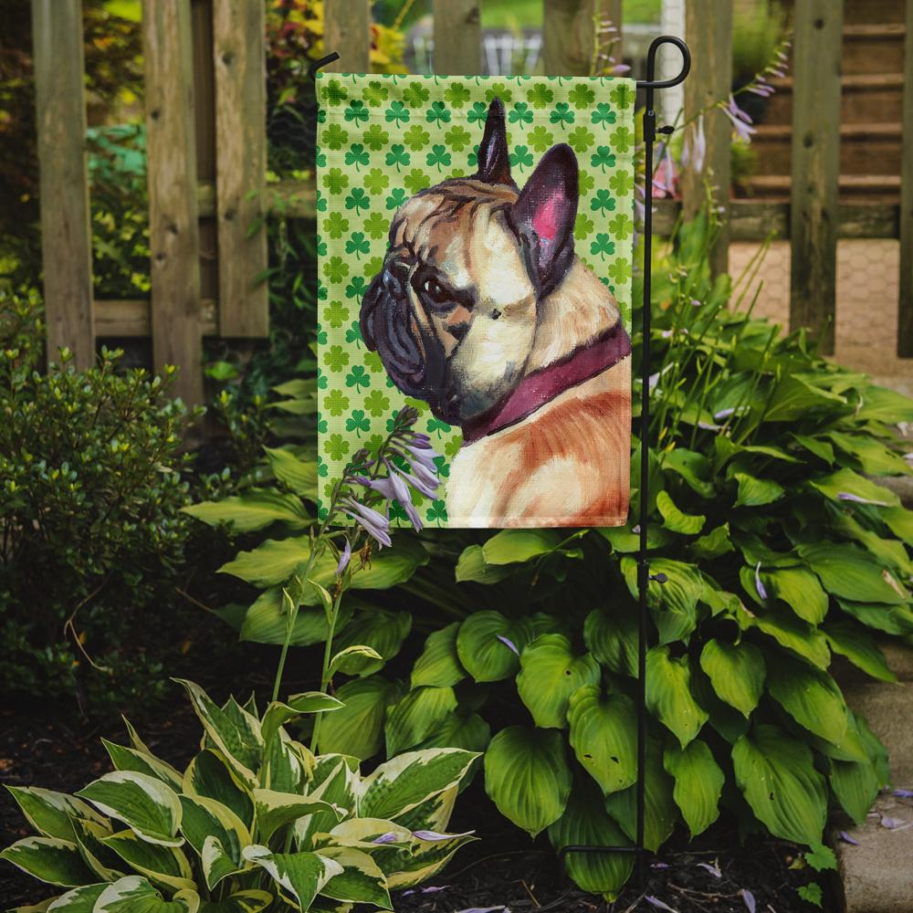 French Bulldog Frenchie St. Patrick's Day Shamrock Flag Garden Size LH9573GF by Caroline's Treasures