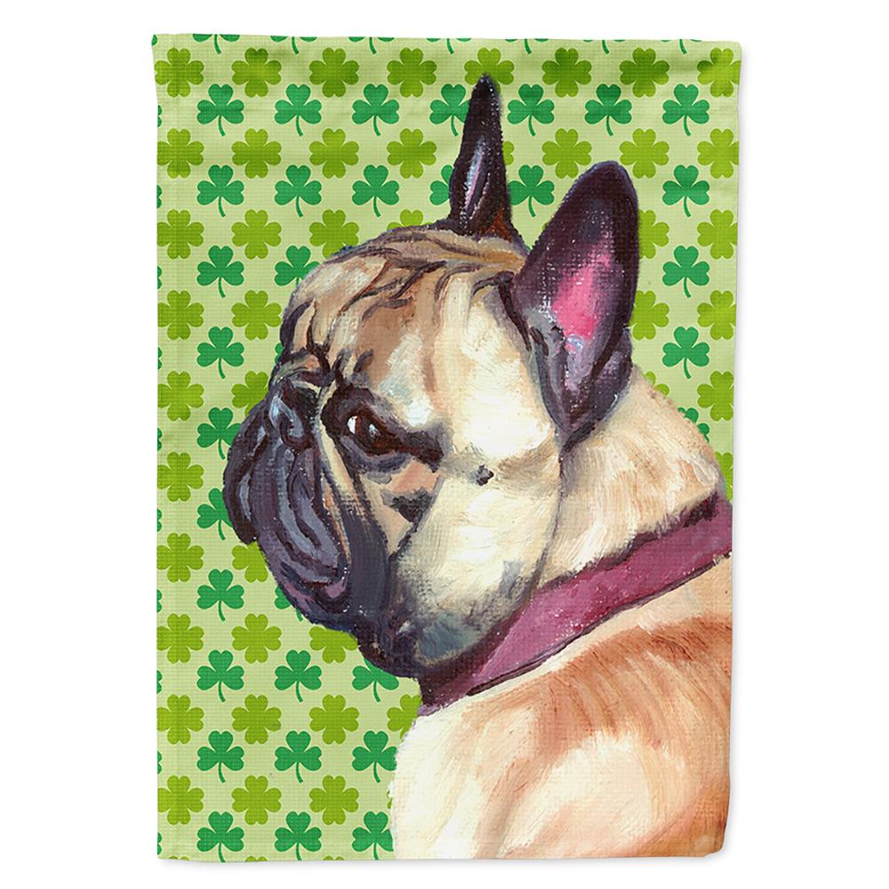 Buy this French Bulldog Frenchie St. Patrick's Day Shamrock Flag Garden Size LH9573GF
