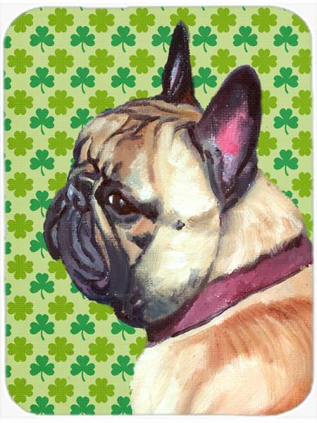 French Bulldog Frenchie St. Patrick's Day Shamrock Mouse Pad, Hot Pad or Trivet LH9573MP by Caroline's Treasures
