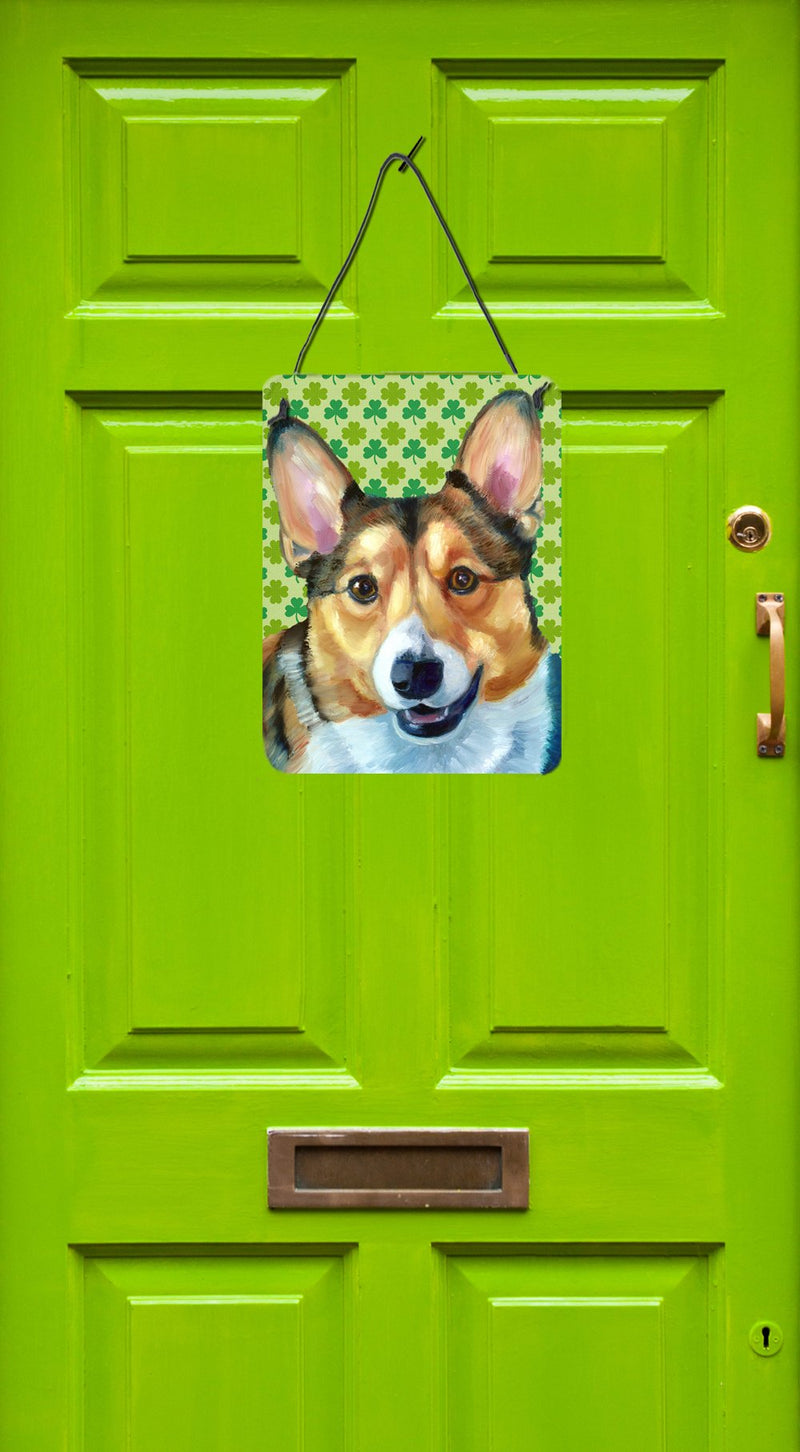 Buy this Corgi St. Patrick's Day Shamrock Wall or Door Hanging Prints LH9574DS1216