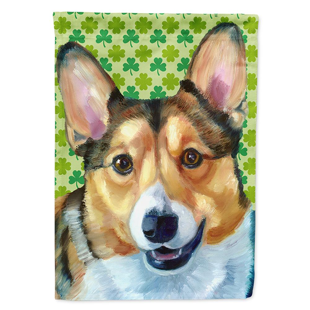 Buy this Corgi St. Patrick's Day Shamrock Flag Garden Size LH9574GF