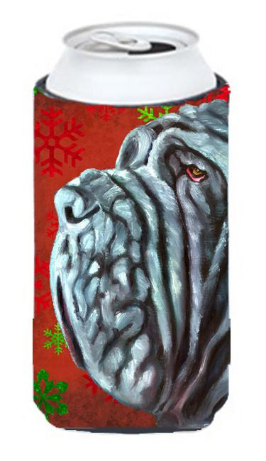 Neapolitan Mastiff Red Snowflakes Holiday Christmas Tall Boy Beverage Insulator Hugger LH9575TBC by Caroline's Treasures