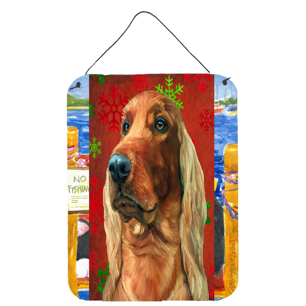 Buy this Irish Setter Red Snowflakes Holiday Christmas Wall or Door Hanging Prints LH9576DS1216
