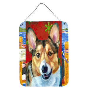 Buy this Corgi Red Snowflakes Holiday Christmas Wall or Door Hanging Prints LH9581DS1216