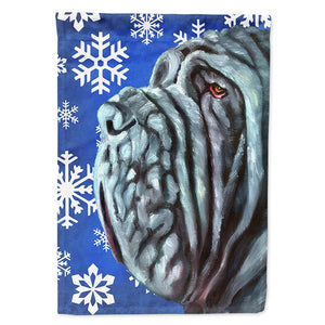 Buy this Neapolitan Mastiff Winter Snowflakes Holiday Flag Garden Size LH9582GF