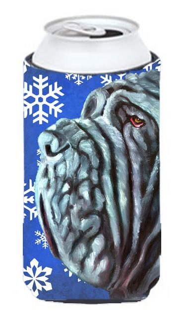 Neapolitan Mastiff Winter Snowflakes Holiday Tall Boy Beverage Insulator Hugger LH9582TBC by Caroline's Treasures
