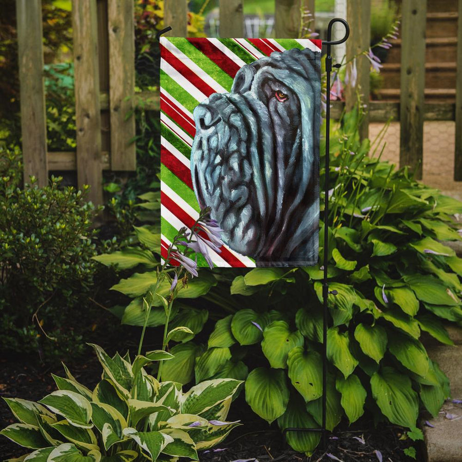 Buy this Neapolitan Mastiff Candy Cane Holiday Christmas Flag Garden Size LH9589GF
