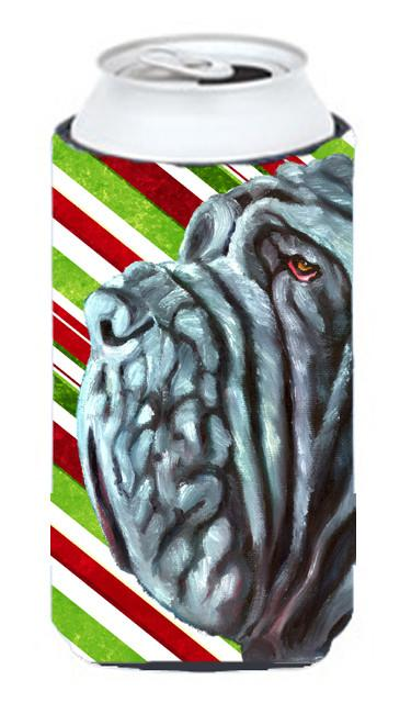 Neapolitan Mastiff Candy Cane Holiday Christmas Tall Boy Beverage Insulator Hugger LH9589TBC by Caroline's Treasures