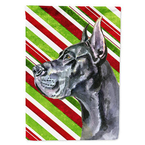 Buy this Black Great Dane Candy Cane Holiday Christmas Flag Garden Size LH9592GF