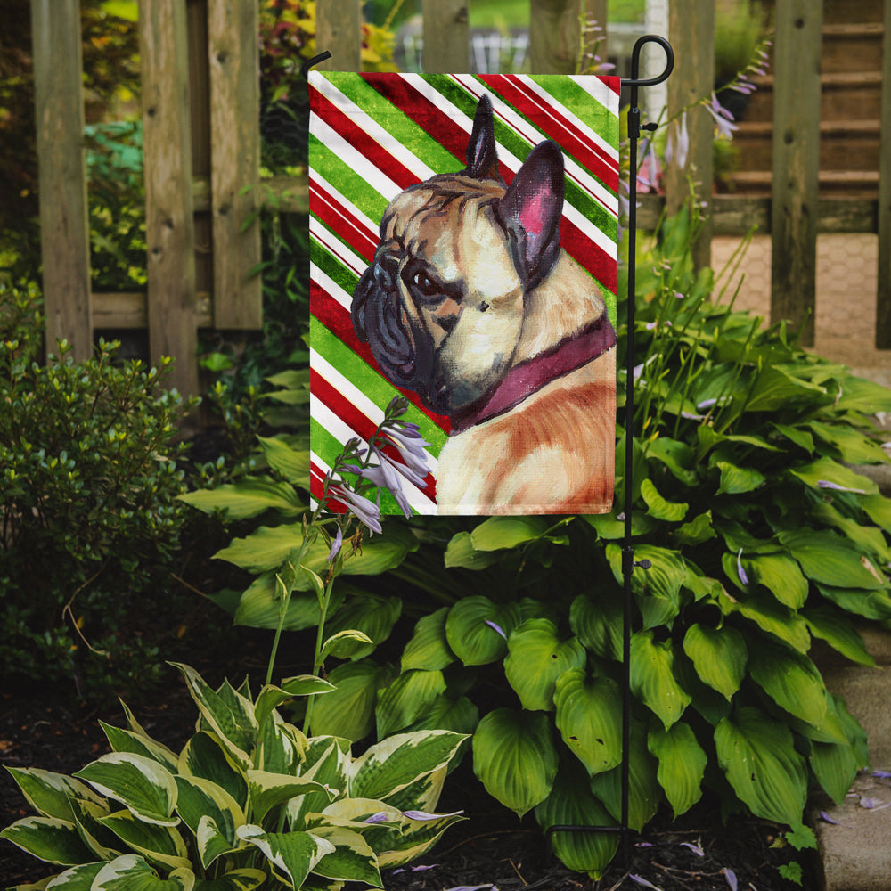 French Bulldog Frenchie Candy Cane Holiday Christmas Flag Garden Size LH9594GF by Caroline's Treasures