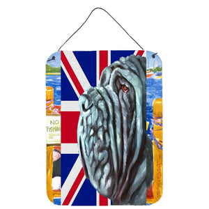 Buy this Neapolitan Mastiff with English Union Jack British Flag Wall or Door Hanging Prints LH9596DS1216