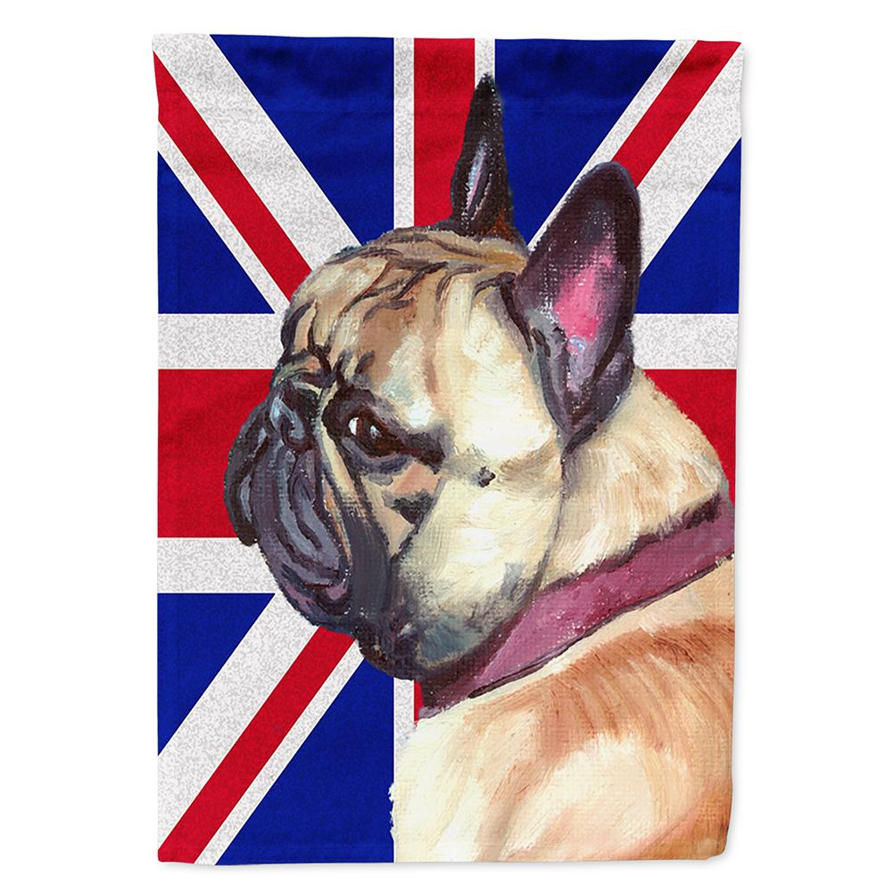French Bulldog Frenchie with English Union Jack British Flag Flag Garden Size by Caroline's Treasures