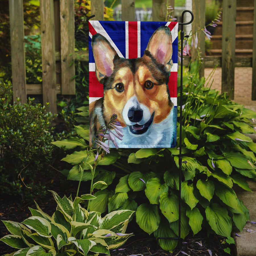 Buy this Corgi with English Union Jack British Flag Flag Garden Size LH9602GF