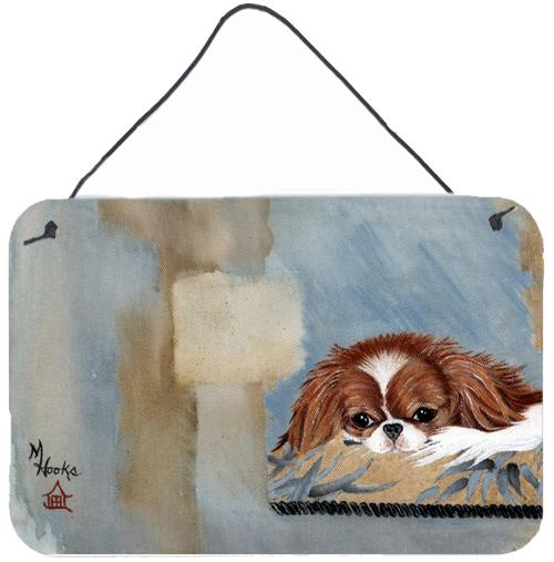 Japanese Chin Resting Wall or Door Hanging Prints MH1010DS812 by Caroline's Treasures