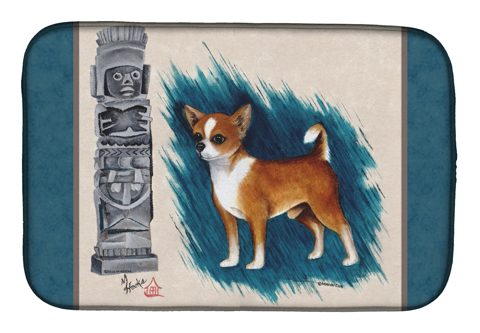 Chihuahua Totem Dish Drying Mat MH1011DDM by Caroline's Treasures