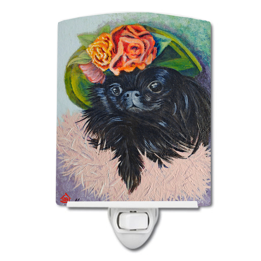 Black Pekingese Ceramic Night Light MH1038CNL by Caroline's Treasures