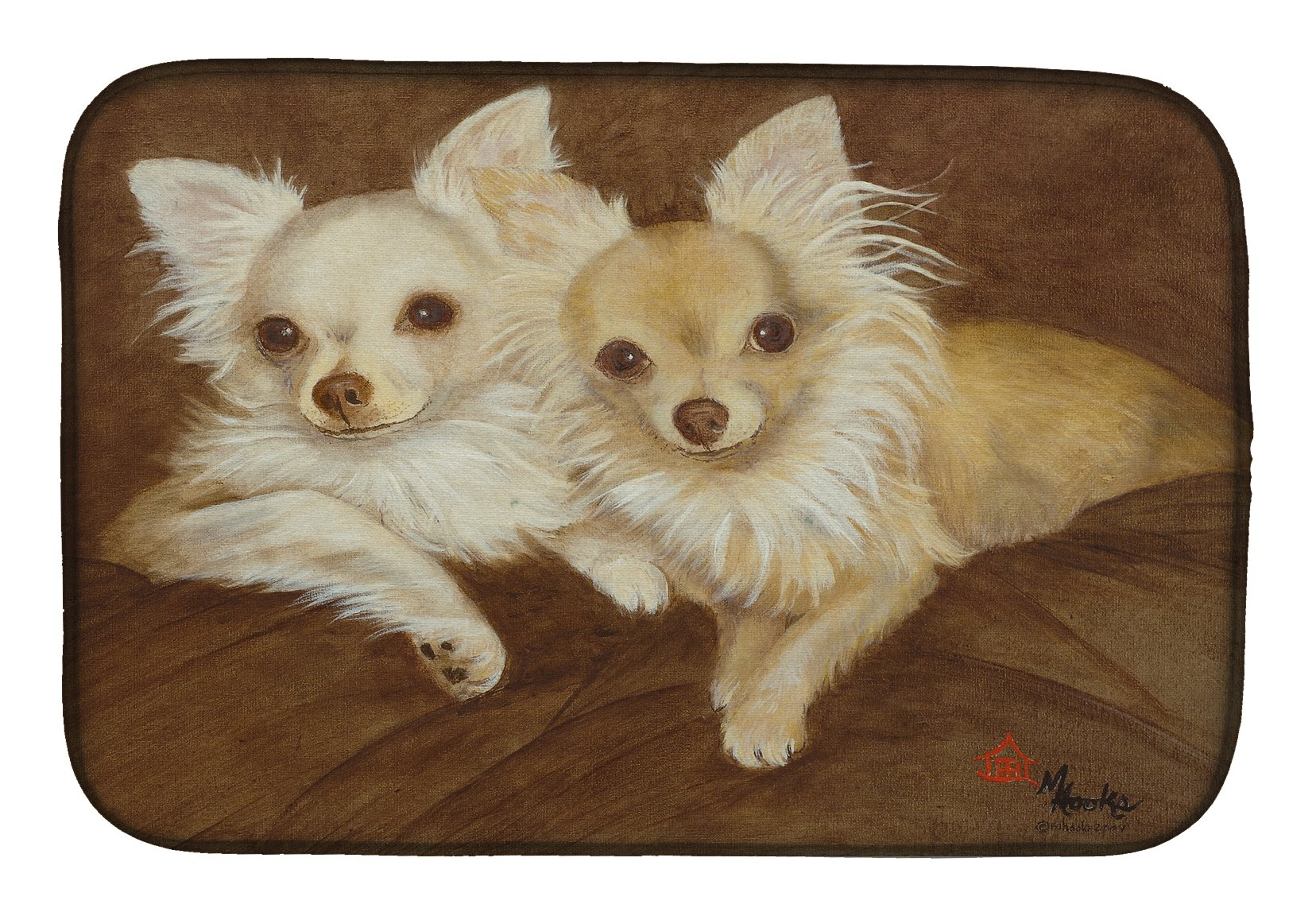 Chihuahua For the Pair Dish Drying Mat MH1042DDM by Caroline's Treasures