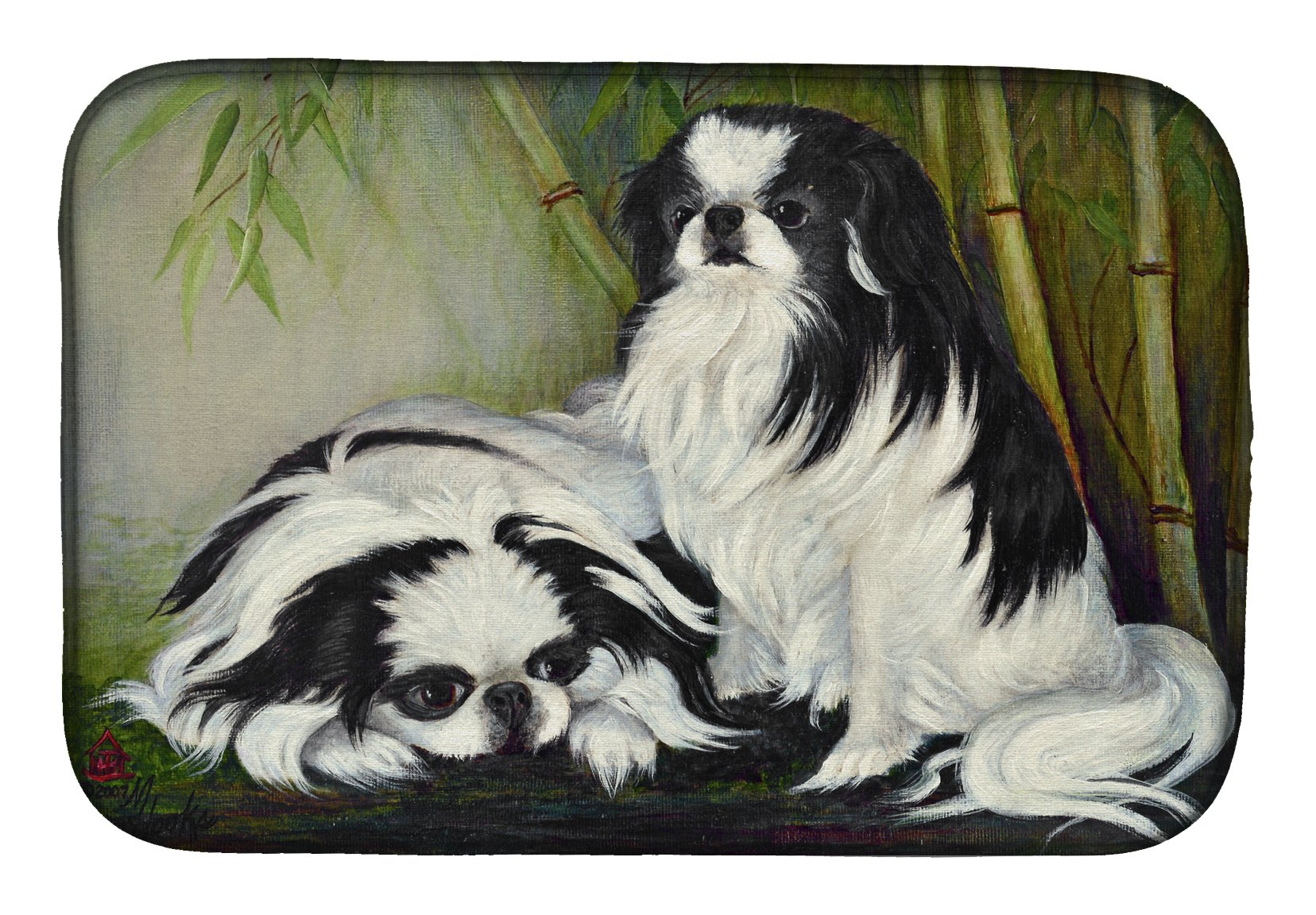 Japanese Chin Bamboo Garden Dish Drying Mat MH1044DDM by Caroline's Treasures