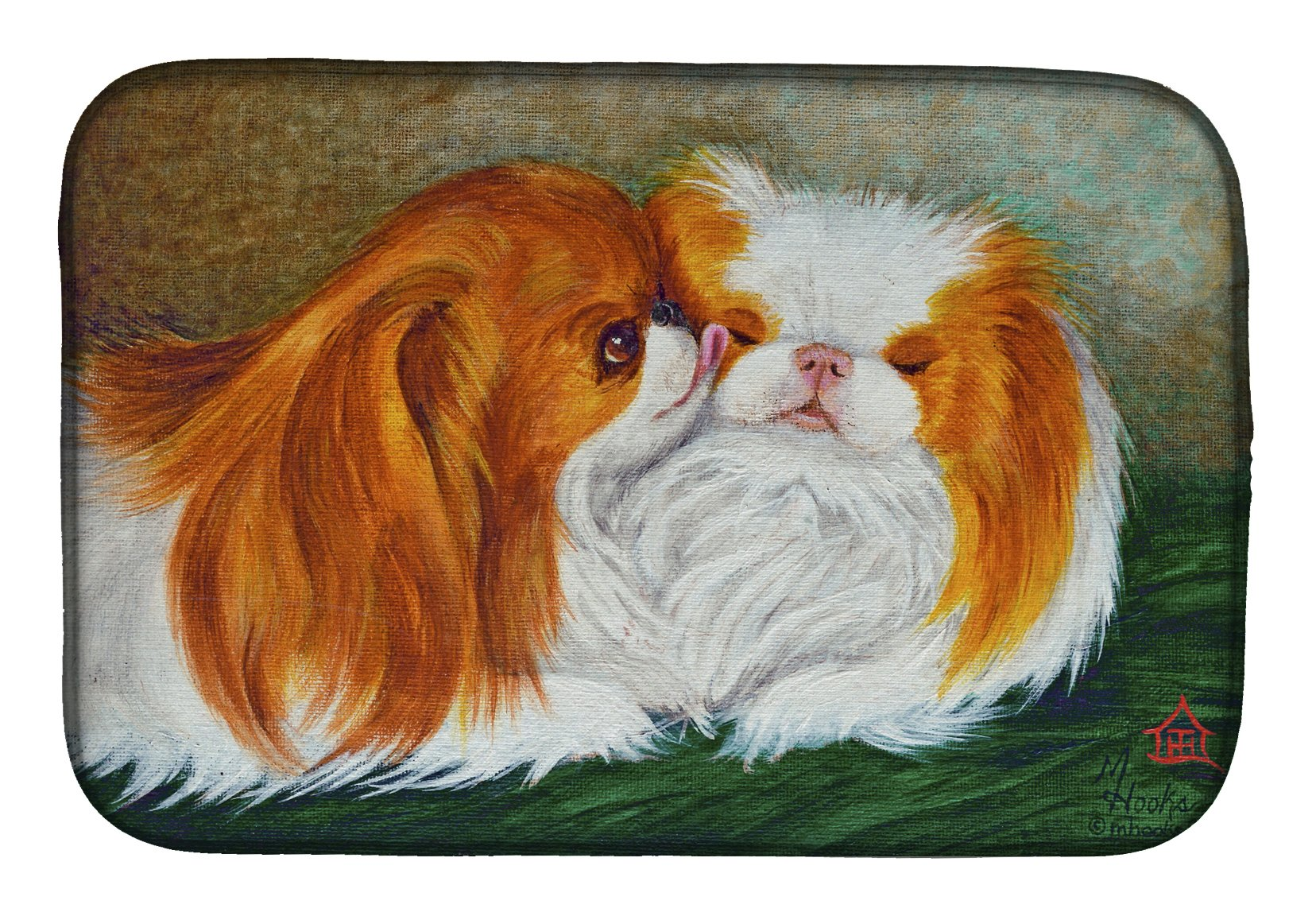 Japanese Chin Best Friends Dish Drying Mat MH1045DDM by Caroline's Treasures