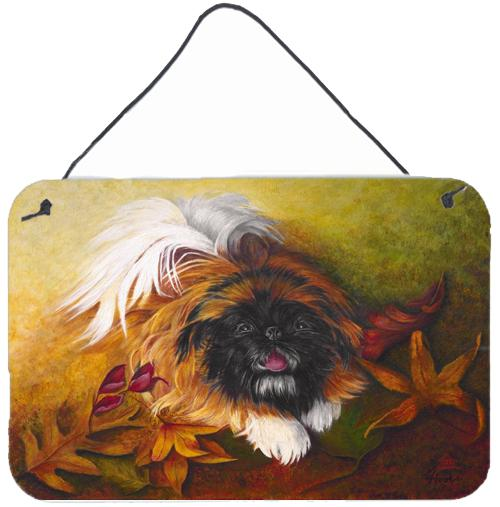 Pekingese Boogie Wall or Door Hanging Prints by Caroline's Treasures