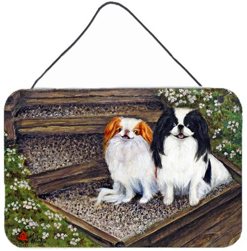 Japanese Chin Daddy's Girls Wall or Door Hanging Prints MH1047DS812 by Caroline's Treasures