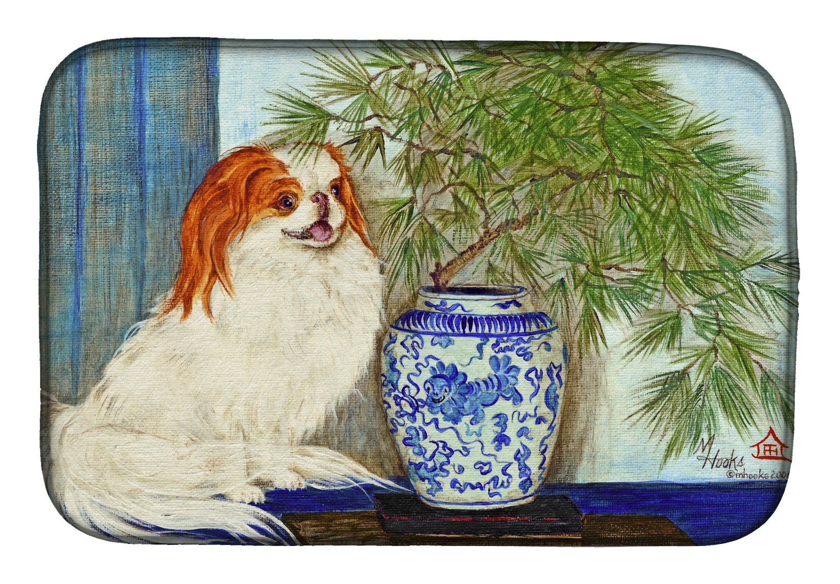 Japanese Chin Ming Vase Dish Drying Mat MH1048DDM by Caroline's Treasures