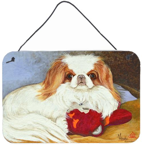 Japanese Chin Pink Gorilla Wall or Door Hanging Prints by Caroline's Treasures