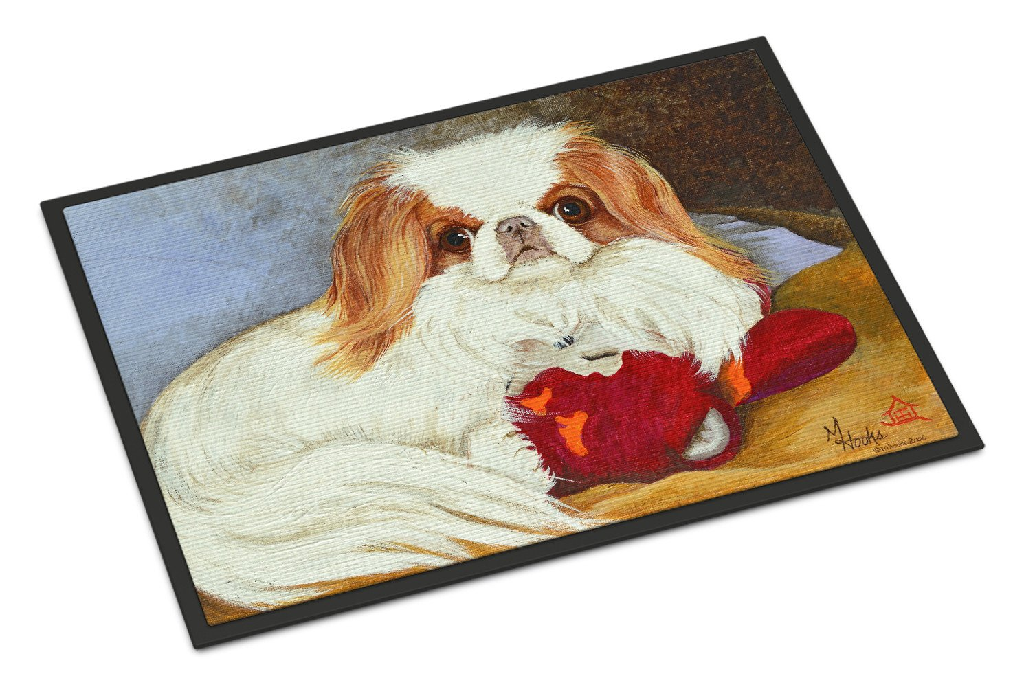 Japanese Chin Pink Gorilla Indoor or Outdoor Mat 18x27 MH1049MAT - the-store.com