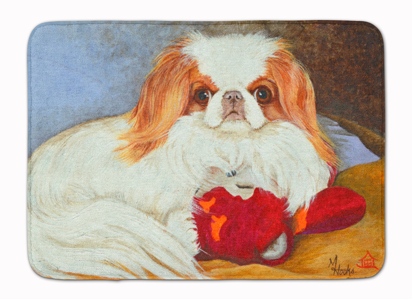 Japanese Chin Pink Gorilla Machine Washable Memory Foam Mat MH1049RUG by Caroline's Treasures