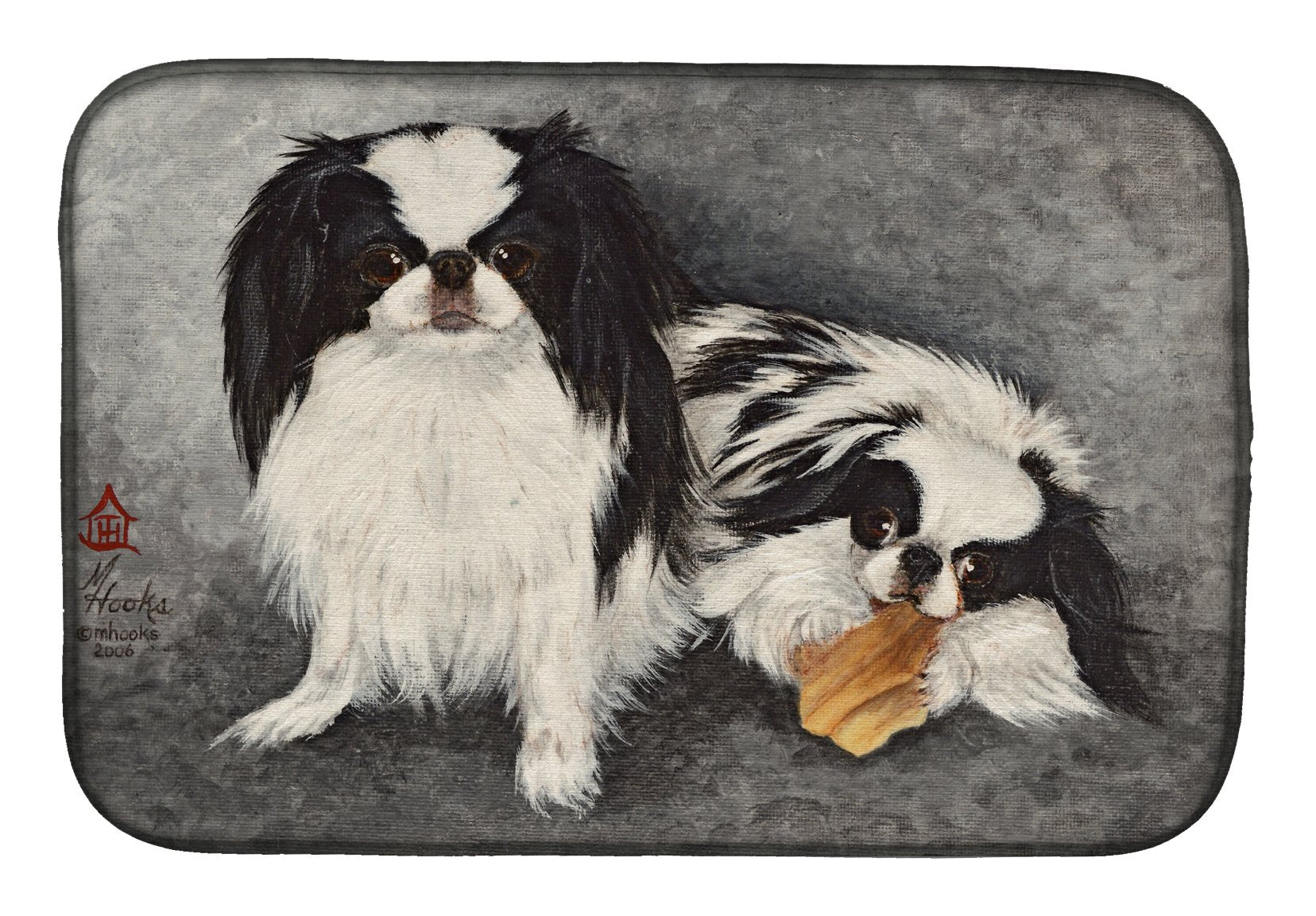 Japanese Chin Impress Dish Drying Mat MH1050DDM by Caroline's Treasures