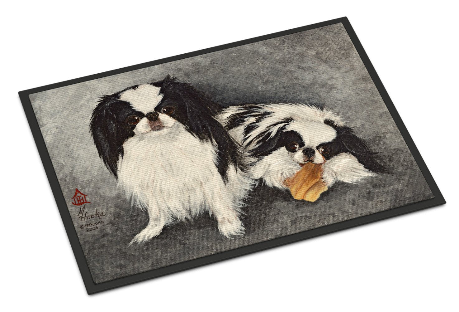 Japanese Chin Impress Indoor or Outdoor Mat 18x27 MH1050MAT by Caroline's Treasures