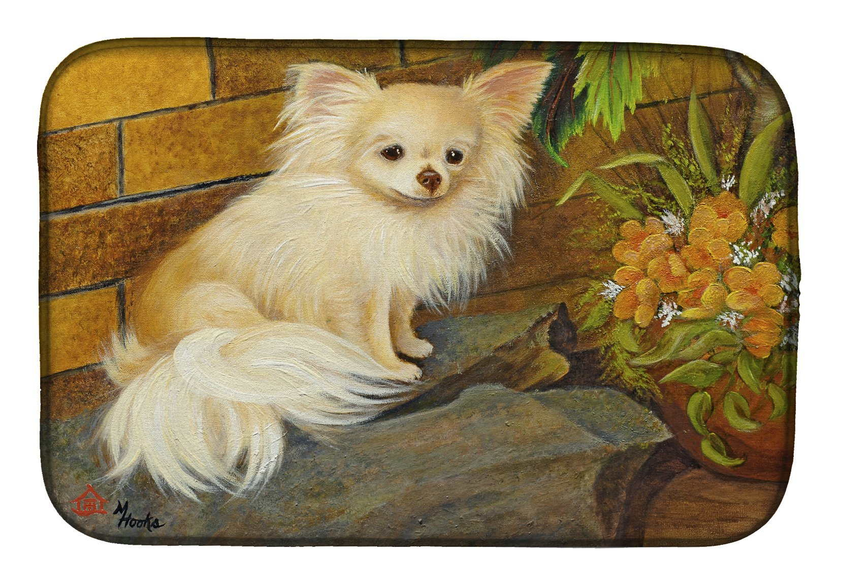 Chihuahua Just Basking Dish Drying Mat MH1053DDM by Caroline's Treasures