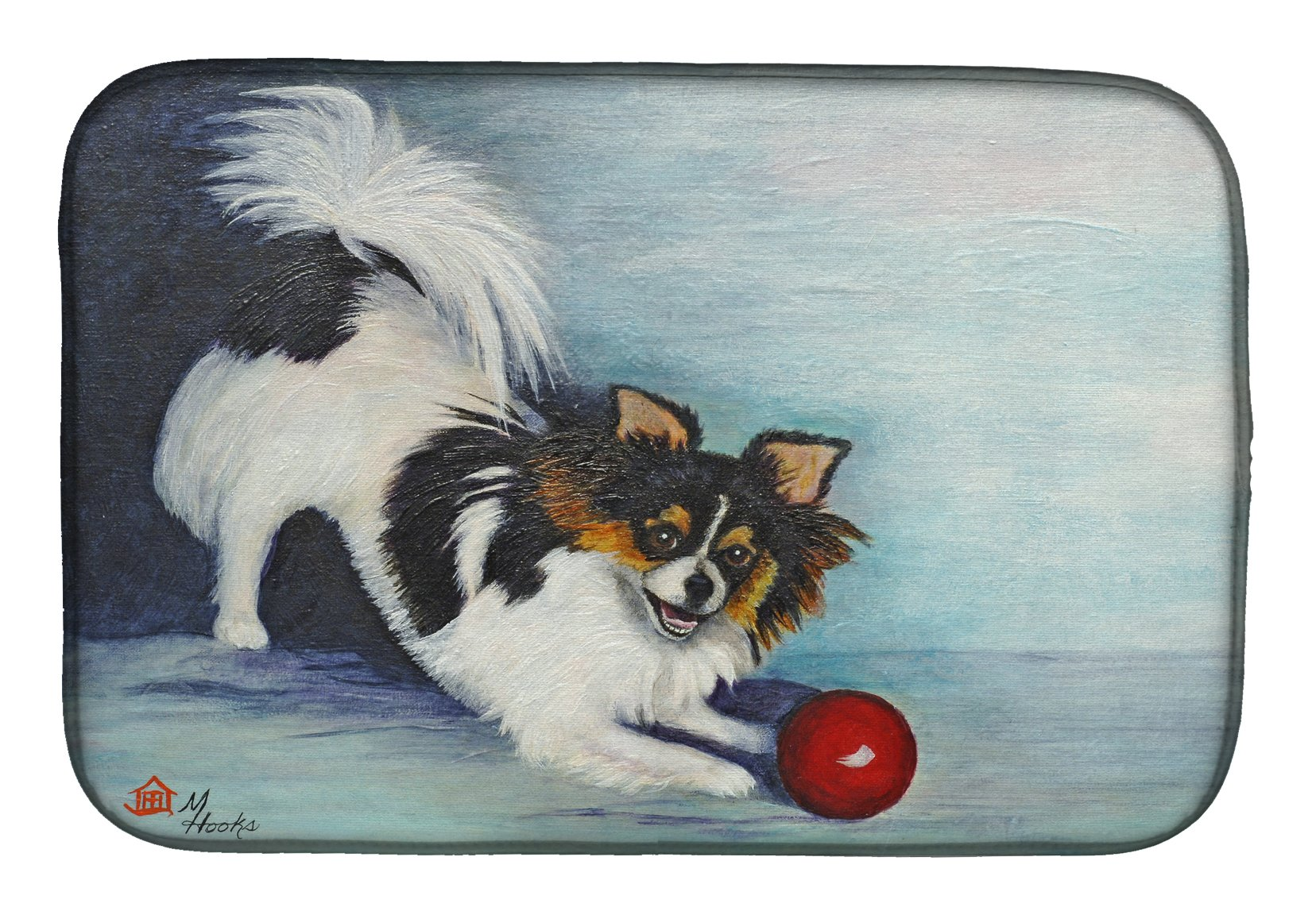 Papillon Play Ball Dish Drying Mat MH1054DDM by Caroline's Treasures
