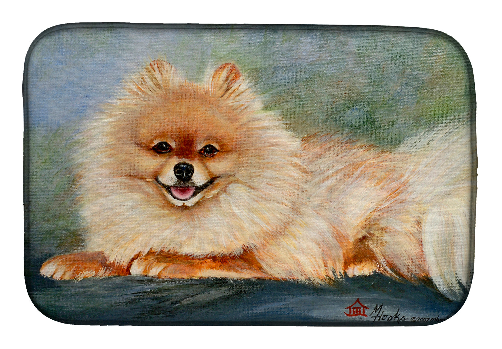 Pomeranian Full Body Dish Drying Mat MH1055DDM by Caroline's Treasures