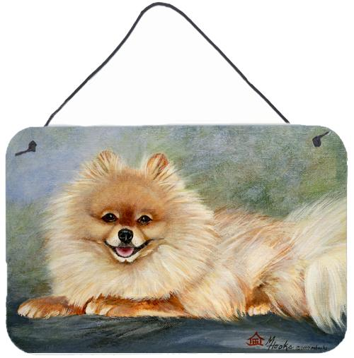 Pomeranian Full Body Wall or Door Hanging Prints MH1055DS812 by Caroline's Treasures