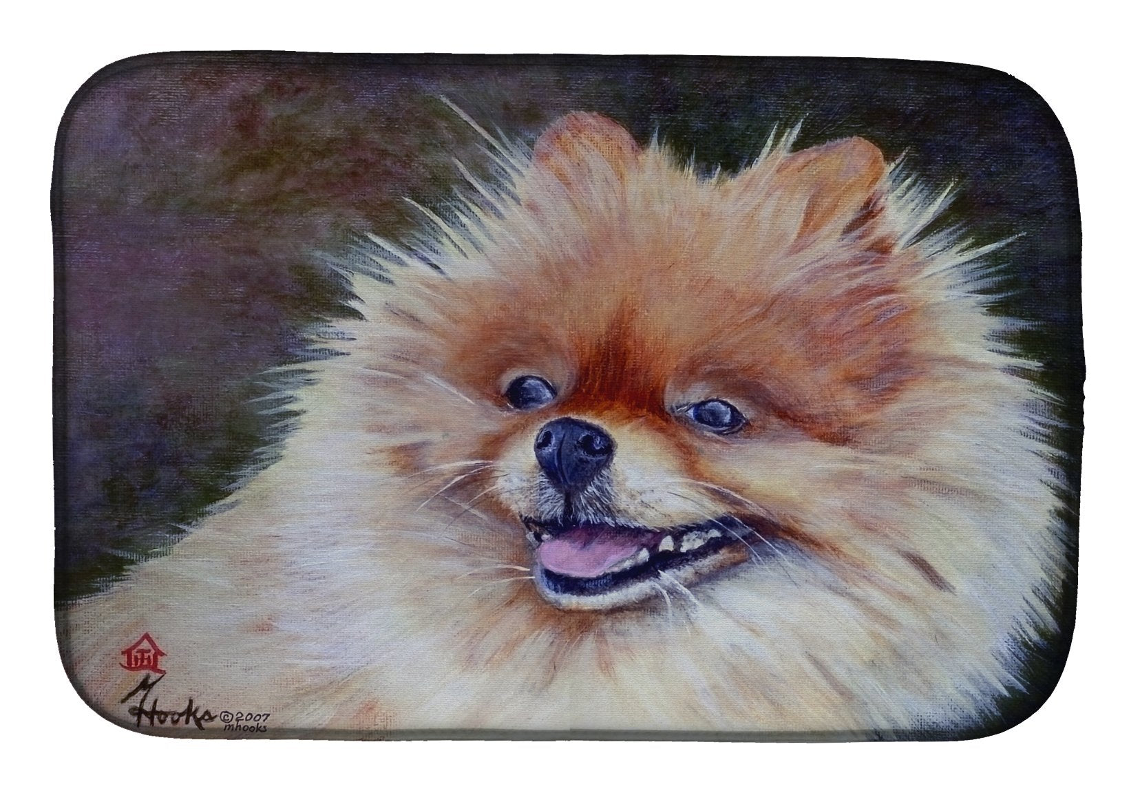 Pomeranian Head Dish Drying Mat MH1056DDM by Caroline's Treasures