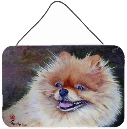 Pomeranian Head Wall or Door Hanging Prints MH1056DS812 by Caroline's Treasures