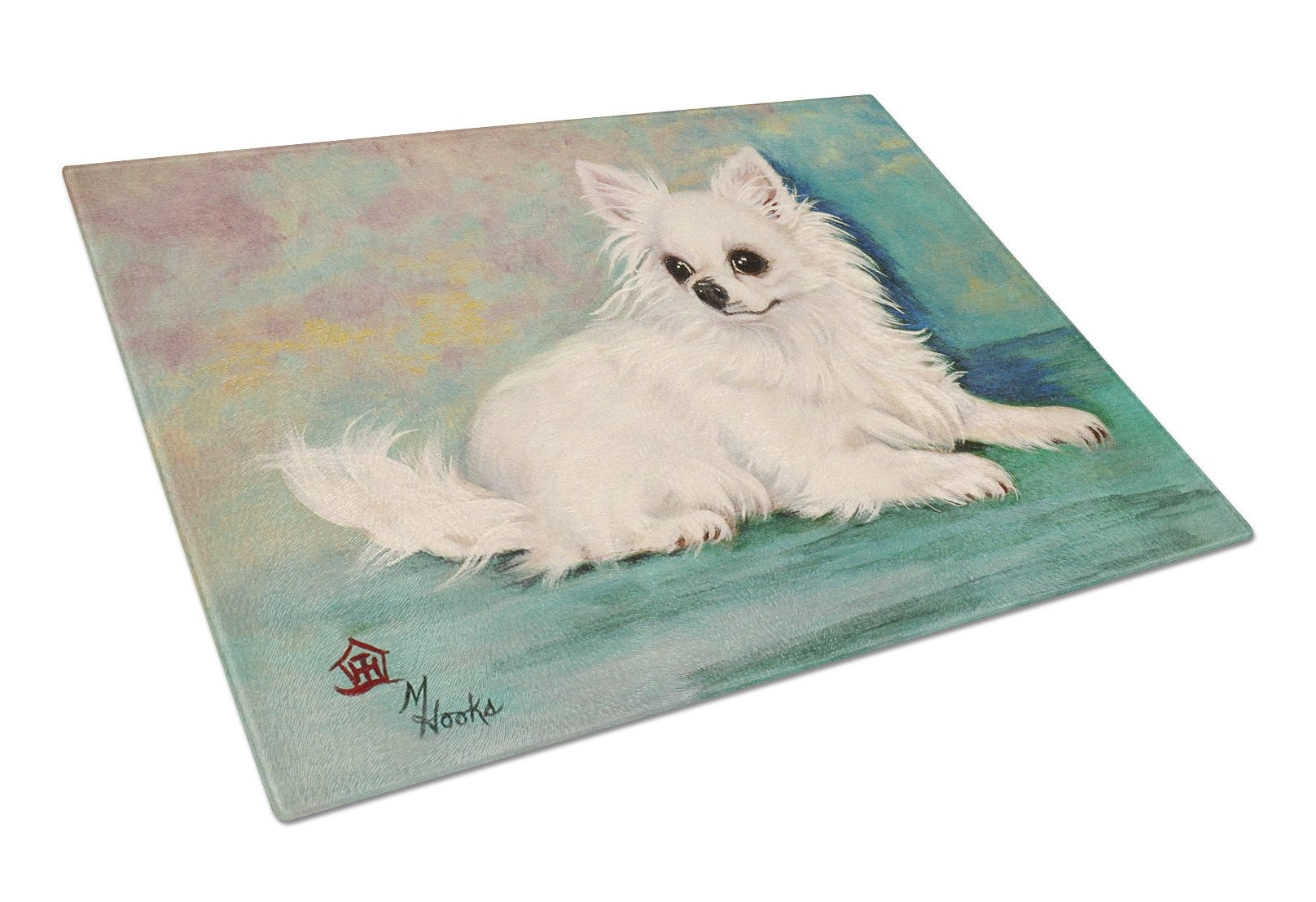 Chihuahua Queen Mother Glass Cutting Board Large MH1057LCB by Caroline's Treasures
