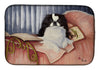 Japanese Chin Reading in Bed Dish Drying Mat MH1058DDM by Caroline's Treasures