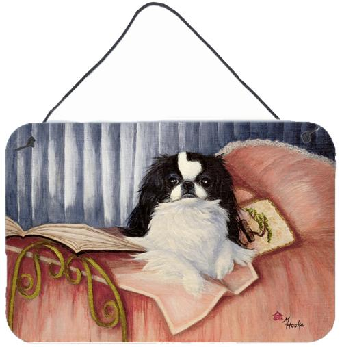 Japanese Chin Reading in Bed Wall or Door Hanging Prints by Caroline's Treasures