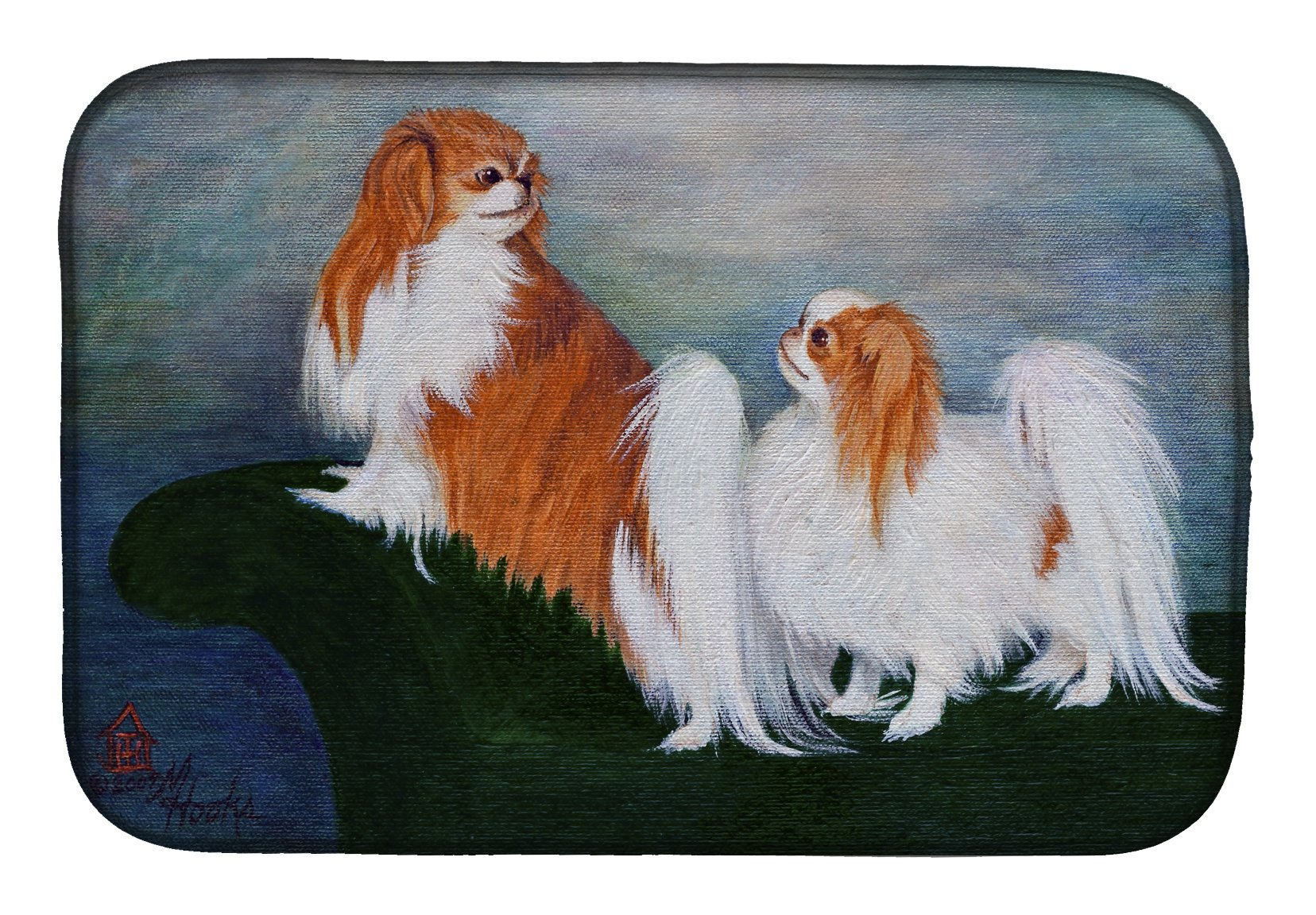 Japanese Chin Standing on my tail Dish Drying Mat MH1059DDM by Caroline's Treasures