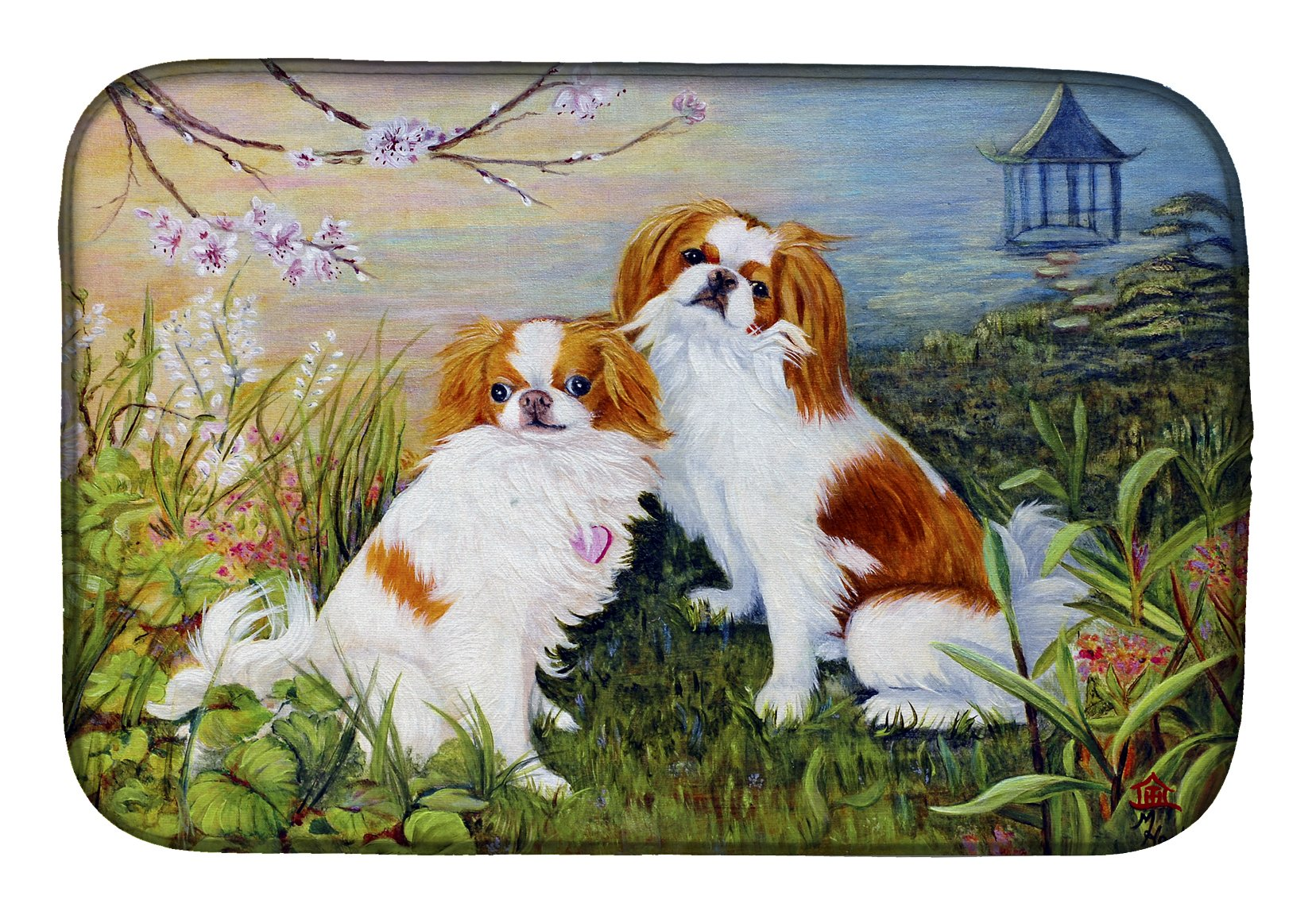 Japanese Chin Wasabi and Ginger Dish Drying Mat MH1061DDM by Caroline's Treasures