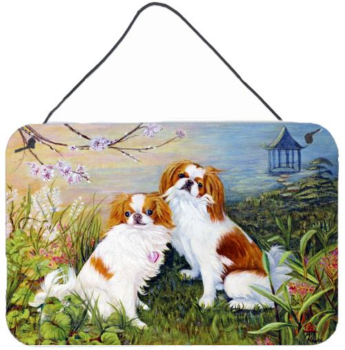Japanese Chin Wasabi and Ginger Wall or Door Hanging Prints MH1061DS812 by Caroline's Treasures