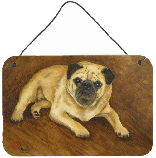 Fawn Pug Roscoe Wall or Door Hanging Prints MH1062DS812 by Caroline's Treasures