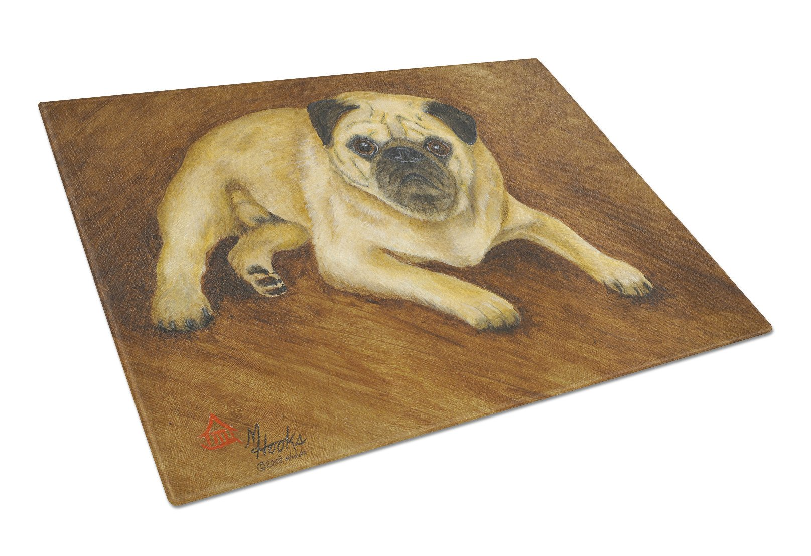 Fawn Pug Roscoe Glass Cutting Board Large MH1062LCB by Caroline's Treasures