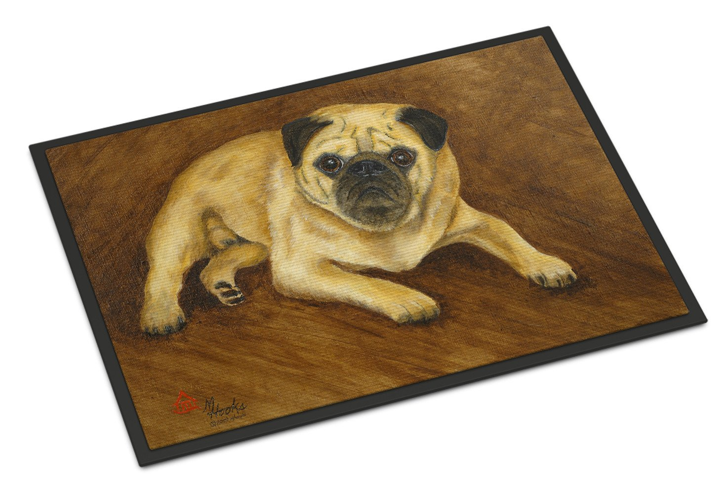 Fawn Pug Roscoe Indoor or Outdoor Mat 18x27 MH1062MAT - the-store.com