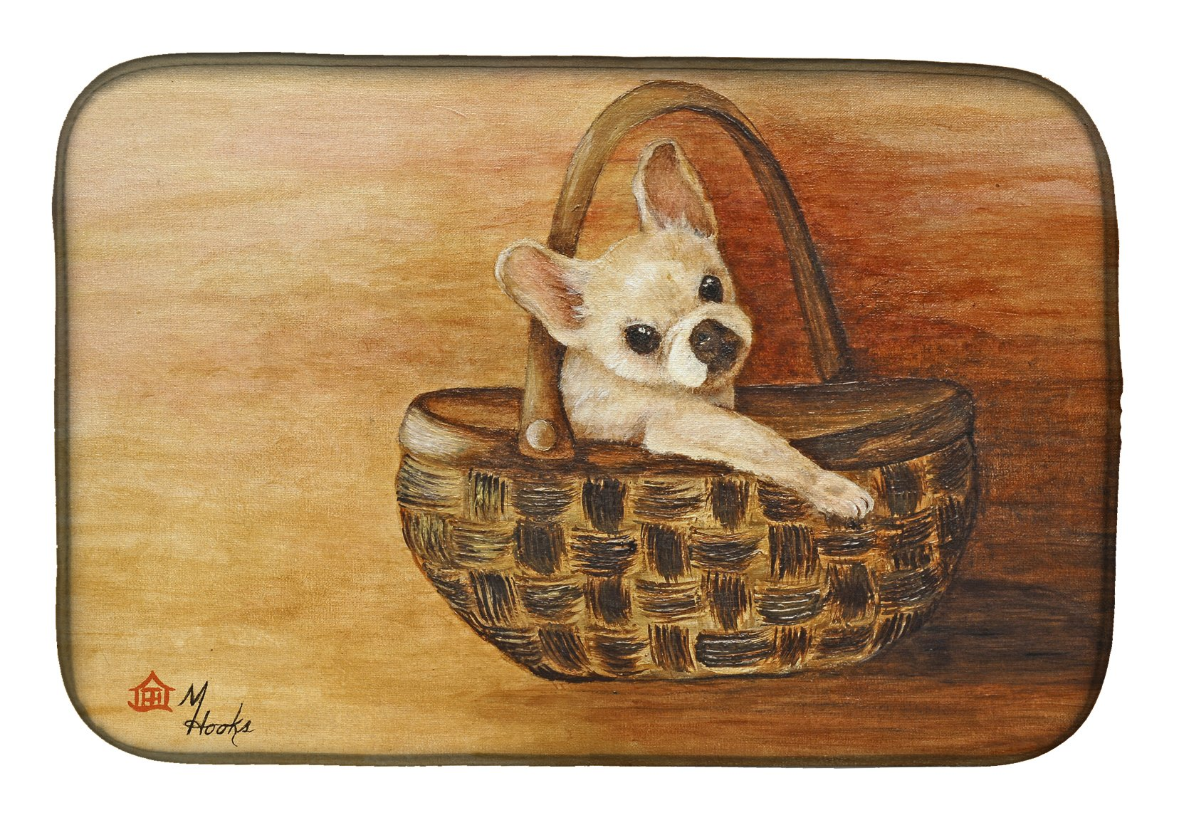 Chihuahua Take me TOO Dish Drying Mat MH1063DDM by Caroline's Treasures