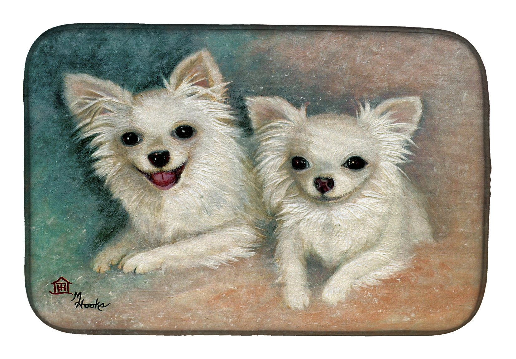 Chihuahua The Siblings Dish Drying Mat MH1064DDM by Caroline's Treasures