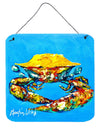 Crab Baby Blue Aluminium Metal Wall or Door Hanging Prints by Caroline's Treasures